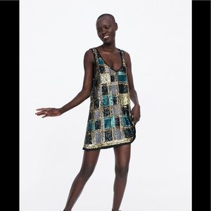 NWT Zara SEQUINNED DRESS